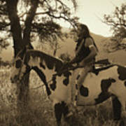Rides His Horse 3 Art Print