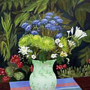 Ridge Lane Green Vase Art Print