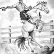 Riding A Flying Horse Art Print