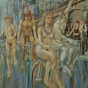 Riding Passed Le Meridien In June Art Print