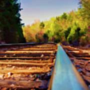 Riding The Rail Art Print