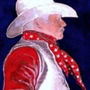 Right Facing Cowboy Art Print