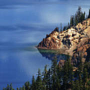 Right Side Of Crater Lake Oregon Art Print
