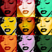 Rihanna Warhol By Gbs Art Print by Anibal Diaz