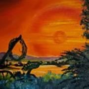 Rim Of Fire     72 Art Print