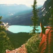 Rim-riding O'er The Canadian Rockies Art Print