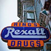 Ring's Rexall Drugs  Art Print