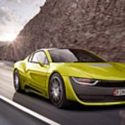 Rinspeed Etos Concept Self Driving Car Art Print