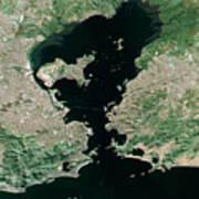 Rio De Janeiro Topographic Map Natural Color Top View Poster