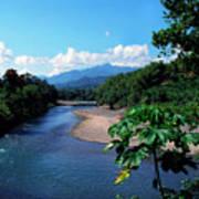 Rio Grande And Blue Mountain Art Print