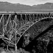 Rio Grande Bridge In New Mexico Art Print