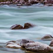 Rio Grande Flow Through Stones Art Print