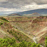 Rio Grande Gorge At Wild Rivers Recreation Area Art Print