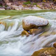 Rio Grande Rocky Flow Art Print