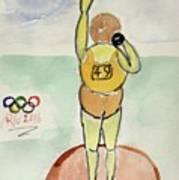 Rio2016 - Shot Putt Art Print