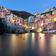 Riomaggiore After Sunset Art Print