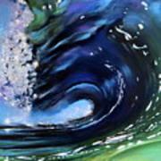 Rip Curl - Dynamic Ocean Wave  Art Print by Prashant Shah