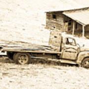 Rip Old Truck In Field Art Print