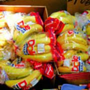 Ripe Bananas In A Box At The Store Art Print