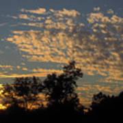 Ripple Clouds At Sunset Art Print