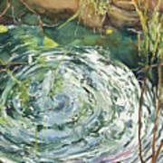 Ripple Pond Art Print