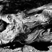 Rippled Wood Art Print