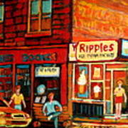 Ripples Ice Cream Factory Art Print