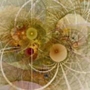 Rising Spring - Fractal Art Art Print