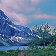 Rising Wolf Mountain And Two Medicine Lake Art Print