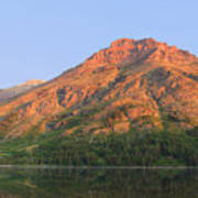 Rising Wolf Mountain At Dawn Art Print