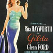 Rita Hayworth As Gilda Art Print