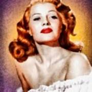 Rita Hayworth, Vintage Actress Art Print