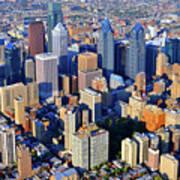 Rittenhouse Square Park And Philadelphia Skyline Print by Duncan Pearson