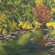 River At Hidden Acres 1. Art Print