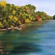 River At Hidden Acres 2. Art Print