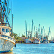 Darien Shrimp Boats Art Print