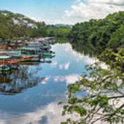 River Boats Docked Art Print
