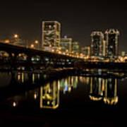 River City Lights At Night Art Print