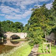 River Coquet Flows Under Warkworth Bridge Art Print
