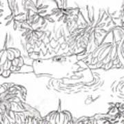 River Dragon Art Print