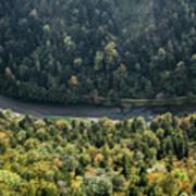 River Dunajec In Pieniny Mountains Art Print