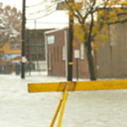 River Flowing Down The Street Hackensack Nj Art Print