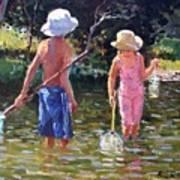 River Fun Print by Roelof Rossouw