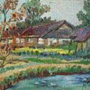 River Home  Minature Art Print
