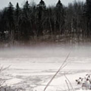 River Ice And Steam Art Print