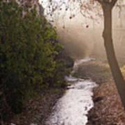 River In Afternoon Sunhaze  Art Print
