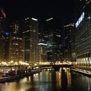 River In Chicago Art Print
