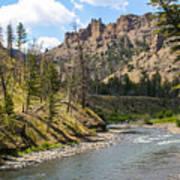River In Shoshone Art Print