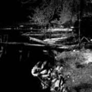 River In The Night... Art Print