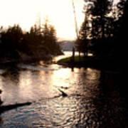 River In Yellowstone Art Print